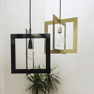 Square Metal Link Lampshade - lighting