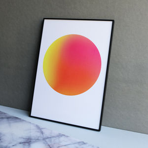 Limited Edition Neon Pink And Orange Gradient Dot Print