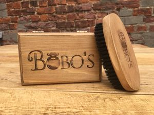 Boxed Boar Hair Beard Brush With Wooden Handle