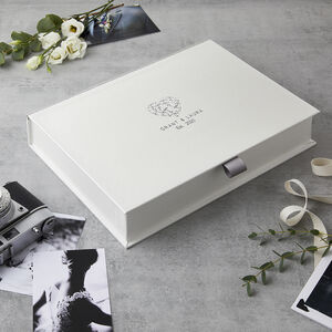 Personalised Floral Heart Est. Date Keepsake Box