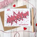 Personalised Valentine's Day Card, Comic Book Style