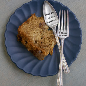 Personalised Vintage Tea Spoon And Cake Fork - tableware