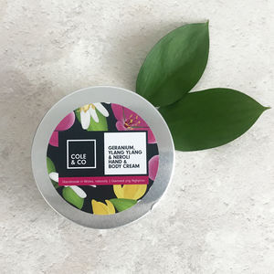 Geranium, Neroli And Ylang Ylang Hand And Body Cream - new in health & beauty