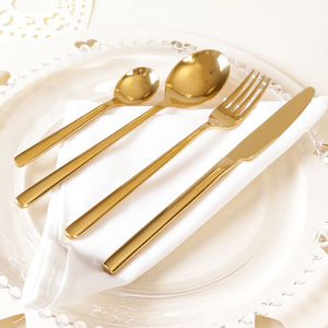 24pc Gold Cutlery In Presentation Box - tableware