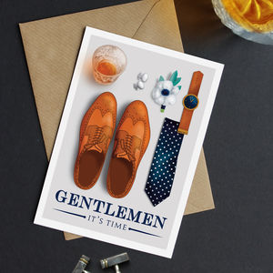 Gentlemans Be My Best Man | Usher Card