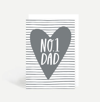 'Number One Dad' Father's Day Card