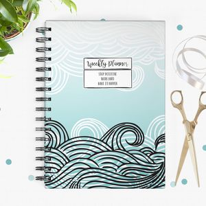 Wave Undated Weekly Planner - 2017 & 2018 diaries