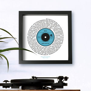 Personalised Lyrics Record Print - gifts for him
