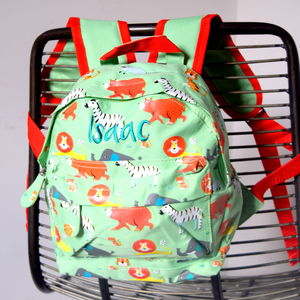 Personalised Safari Kids Backpack