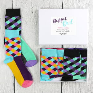 Dapper Dad Box Of Socks - new in fashion