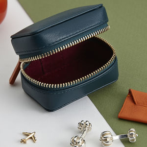 Personalised Cufflink Box For Travel - 3rd anniversary: leather