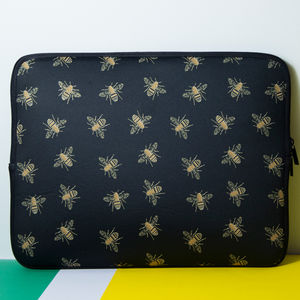 Laptop Sleeve With Bees Print, More Colours - laptop bags & cases