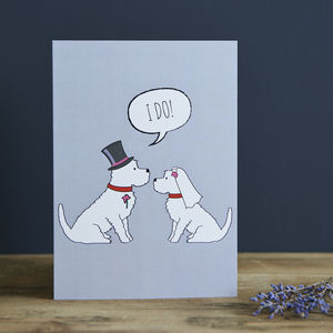Westie Wedding / Engagement / Anniversary Card - wedding cards & wrap