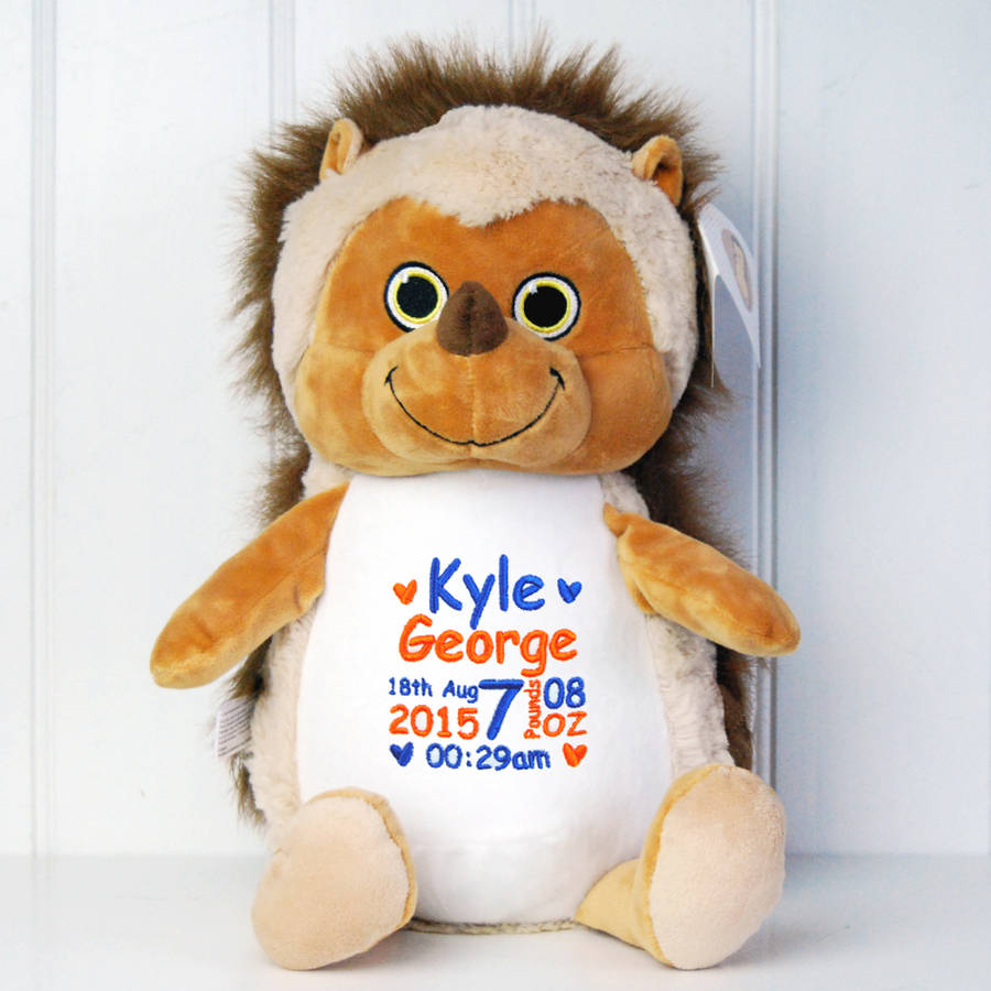 Personalised New Baby Animal Soft Toy