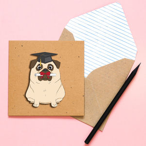 Congratulations Pug Personalised Card