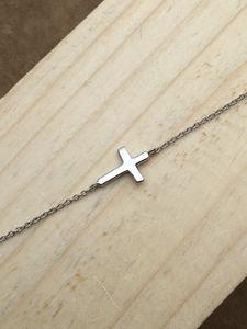 Plain Cross Bracelet Sterling Silver - bracelets & bangles