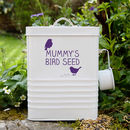 Personalised Bird Food Storage Tin