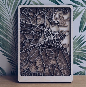 Your Location Multi Layer Wood Map - view all new