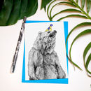 'Party Animal' Bear Greeting Card