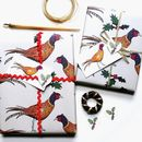 Pheasant Christmas Wrapping Paper Gift Set