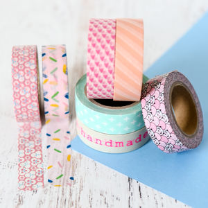 Pastel Patterned Washi Tape - diy stationery