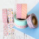 Pastel Patterned Washi Tape