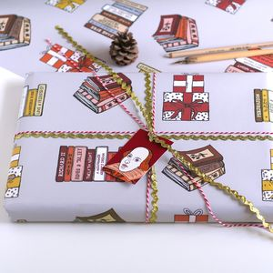 Books Wrapping Paper Gift Set - summer sale