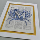 Crab Letter Print Blue detail
