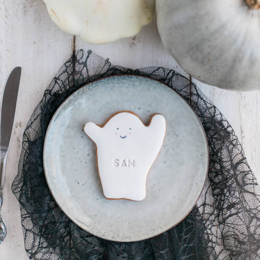 Personalised Halloween Ghost Biscuit
