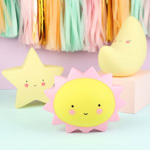 Mini Star, Sun And Moon LED Night Lights - children's lights & night lights