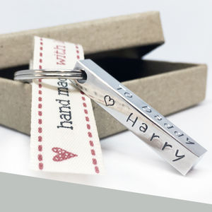 Personalised Message Keyring - accessories