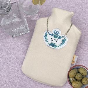 Gin Tipple Hot Water Bottle