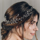 Swarovski Crystal And Pearl Wedding Hair Vine Lily