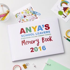 Child's Personalised School Leavers Photo Album Journal