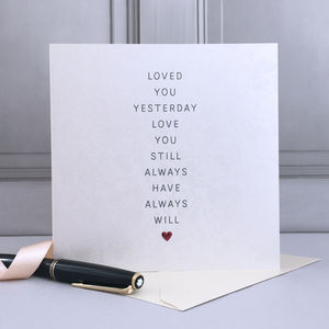 Loved You Yesterday Wedding Card