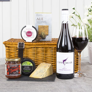 Wine And Cheese Lover's Gift Hamper - bread & cheese