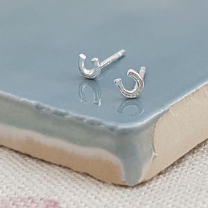 Good Luck Silver Horseshoe Studs - what's new