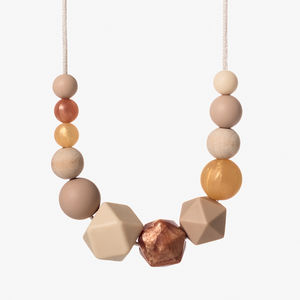 Copper Blush Christmas Teething Necklace - gifts for new mothers