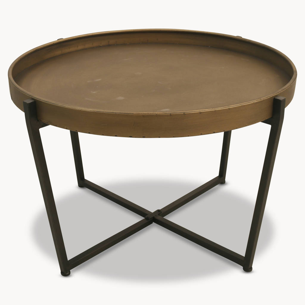 Granville Round Metal Coffee Table By One.world