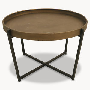 Granville Round Metal Coffee Table - coffee tables