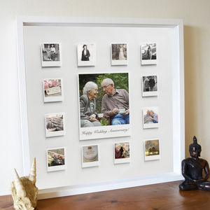 Personalised Wedding Anniversary 3D Box Framed Print