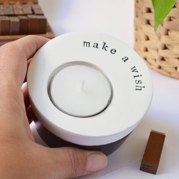 'Make A Wish' Handmade Candle Holder
