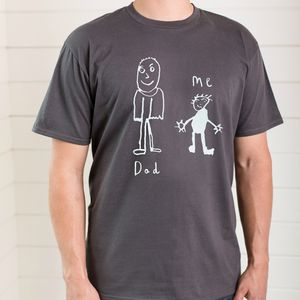 Personalised Dad Tshirt With Child's Drawing - Mens T-shirts & vests