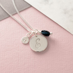 Personalised Silver Birthday Initial Necklace - necklaces & pendants