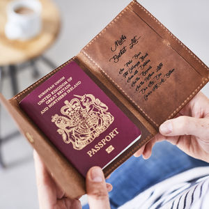 Personalised Bucket List Leather Passport Holder - new in shop by interest