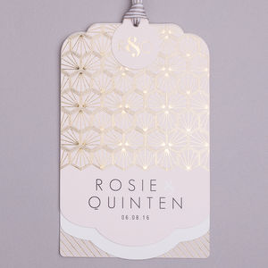 Portofino Foil Luxe Invitation Suite - invitations