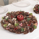 Winter Forest Christmas Candle Table Centrepiece