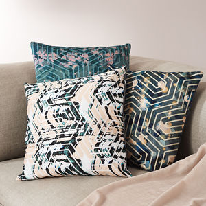 Geometric Patterned Cushion - summer sale