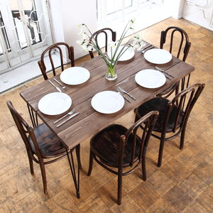 Hairpin Legs Barnwood Dining Table - dining tables