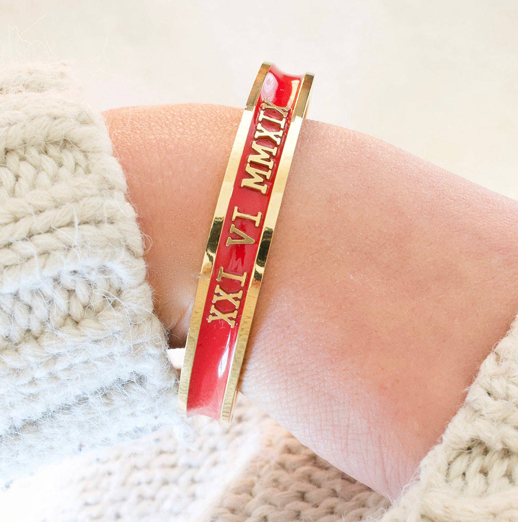 Valentine's Bangle With Anniversary Or Initials